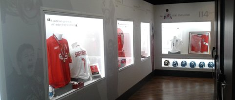 Installation of display lighting to The Steven Gerrard museum at Liverpool Football Club.